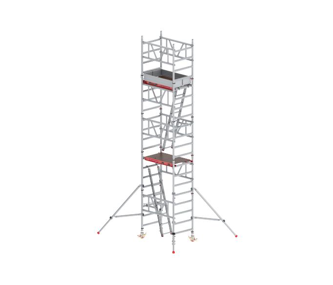 Torre móvil con escaleras de 70 grados 1,35 x 1,85