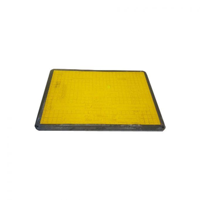 Placa cubrezanjas antideslizante para vehículos