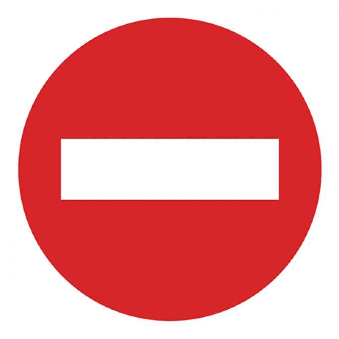 Señal tráfico disco 500mm prohibido el paso