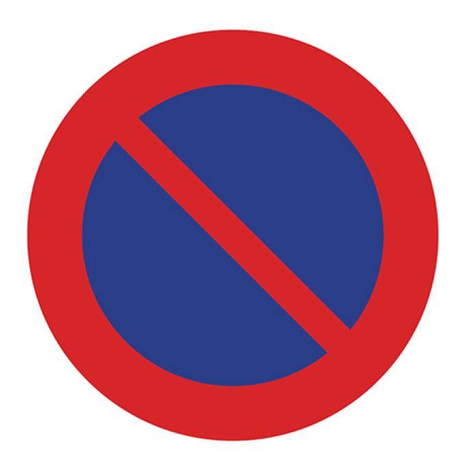 Señal tráfico disco 500mm prohibido estacionar
