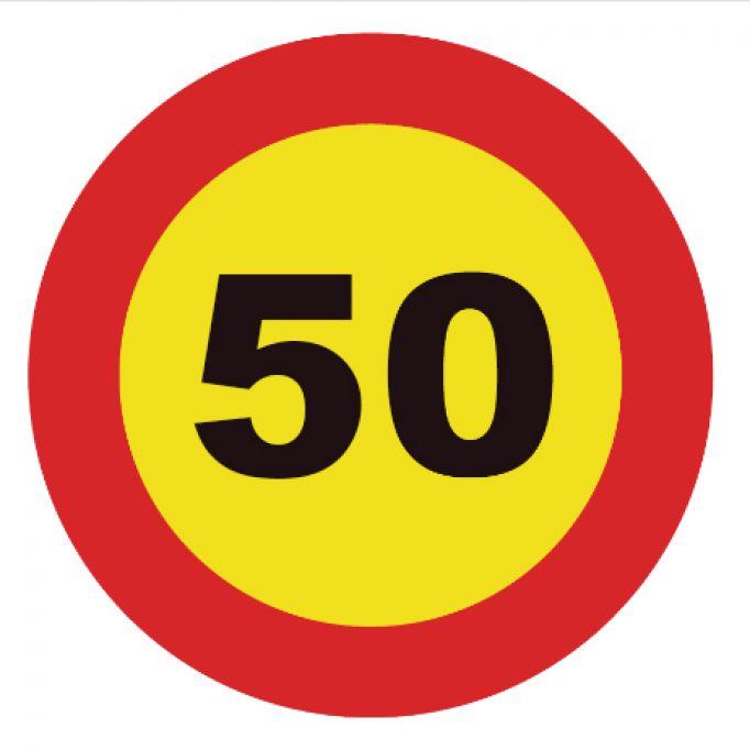 Señal tráfico homologada velocidad máxima 50 km/h