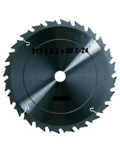 Disco madera 315x30 mm 24D tronzadora seco