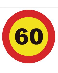 Señal tráfico disco 900mm velocidad máxima 60 km/h