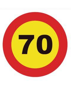 Señal tráfico homologada velocidad máxima 70 km/h
